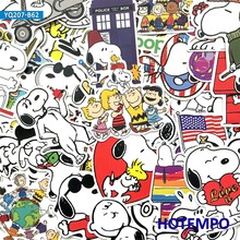 60pcs Cartoon Cute Dog Snoopy Puppy Stickers for Mobile Phone Laptop Luggage Suitcase Skateboard Fixed Gear Decal