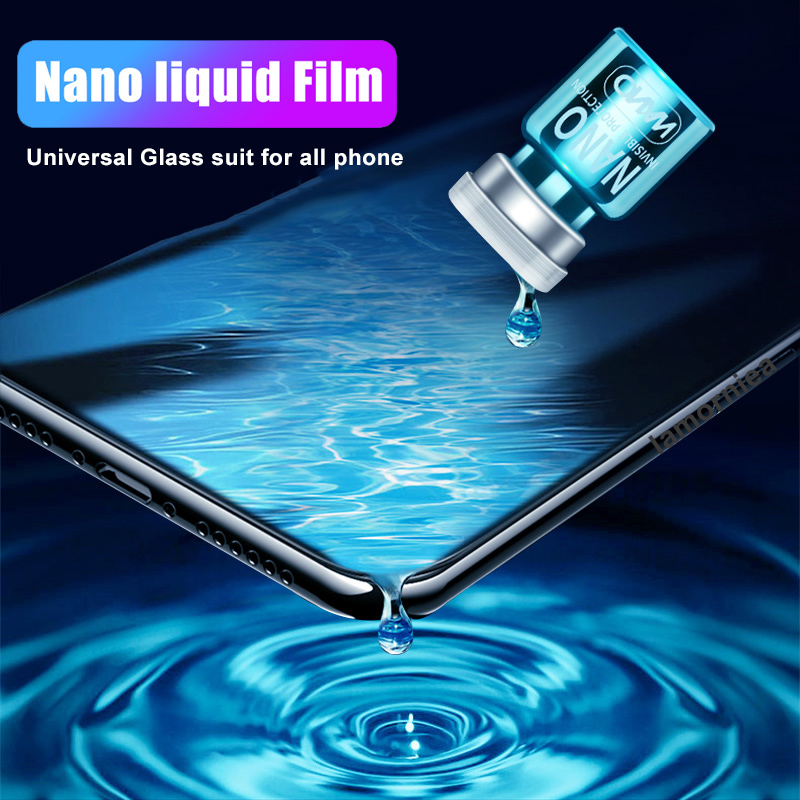 Lamorniea Nano Liquid Screen Protector For iPhone 7 8 Plus XS MAX Xiaomi Samsung Huawei Invisible Full Cover Universal Glass image