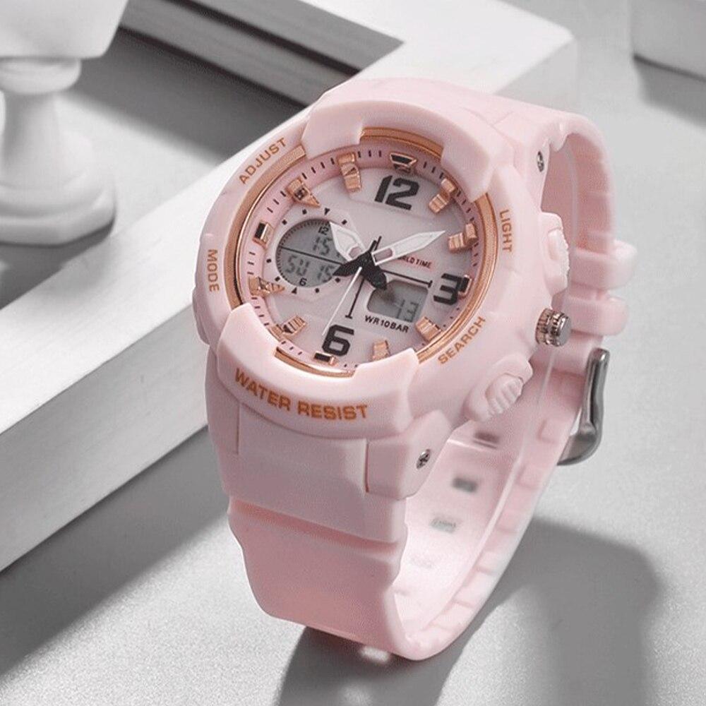 Shifenmei Women Watch Sports Quartz Clock Woman Watches 2020 Brand Luxury Led Digital Waterproof Pink Wristwatch Zegarek Meski