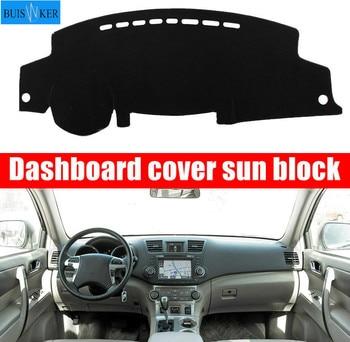 цена на Car Dashboard Cover Dashmat Dash Mat Pad Sun Shade Dash Board Instrument Carpet Accessories For Toyota Highlander 2008-2013