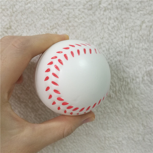 12pcs 6 3cm Anti Stress Ball Relief soccer Football Basketball Baseball Tennis Soft Foam Rubber squeeze