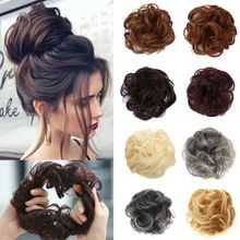 Для женщин и девушек, синтетические волосы для наращивания, пучок, Пончик, хвостик, держатель, эластичная волна, кудрявый парик, декоративные накладные волосы, обруч, резинки для волос