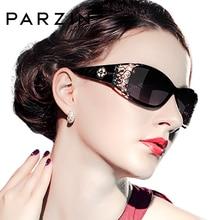 PARZIN gafas de sol polarizadas para dama, marca de lujo femeninos de lentes de sol, de estilo Vintage, con encaje hueco, adecuadas para conducir