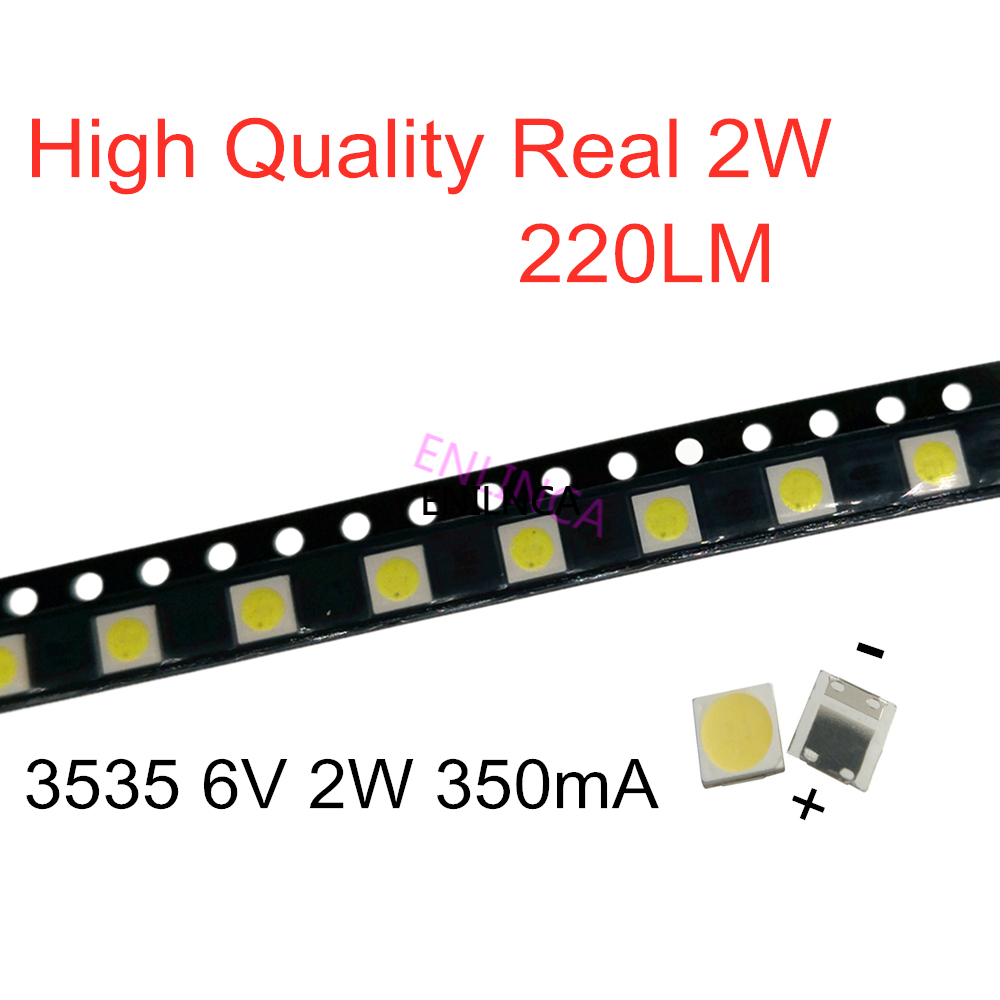 100-1000PCS For LG 3535 2W 6V 350mA 220LM Cool white FOR LCD TV repair led TV backlight strip lights with light-emitting diode