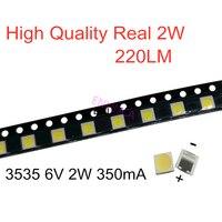 Tira de luces led de retroiluminación con diodo emisor de luz, para reparación de TV LCD, LG 100, 2W, 6V, 350mA, 220LM, blanco frío, 1000-3535 Uds.