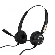 Call Center Headset USB Noise Cancelling Call Center USB Headset Light Weight with Microphone for Computer Telephone Desktop