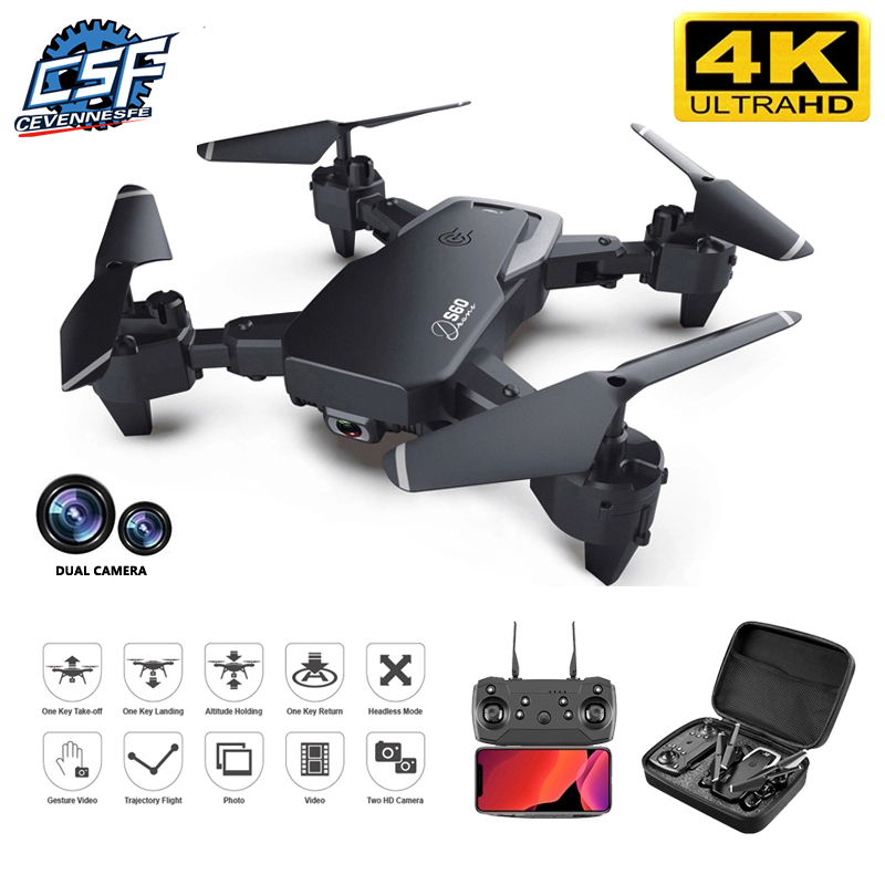 2021 NEW Drone 4k profession HD Wide Angle Camera 1080P WiFi fpv Drone Dual Camera  Height Keep Drones Camera Helicopter Toys 1