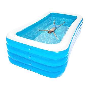 Надувной плавательный бассейн высокого качества, утолщенный большой размер, удобный семейный бассейн для детей, взрослых, для отдыха на отк...