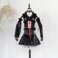 Anime DEATH NOTE Misa Amane Cosplay Costume Black Lolita Dress Halloween Christmas Party Costumes For Women