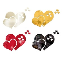 Home decoration love lip DIY 3D mirror wall stickers light and durable