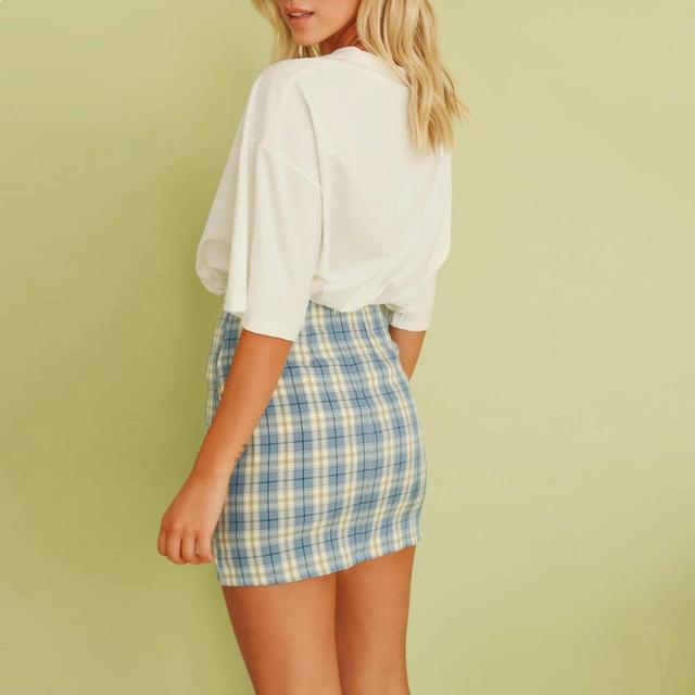 Jocoo Jolee Women Fashion Cotton Plaid Bodycon Skirt Spring Europe Style Split Elegant Chic Skirts High Waist Wild Bottom 6