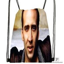 На заказ Nicholas клетка фильмы походная сумка на шнурке милый рюкзак дети ранец(черная спина) 31x40 см#180531-04-11