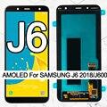 100% оригинал 5,6 ''Супер AMOLED LCD для Samsung Galaxy J6 2018 J600F J600 дисплей с сенсорным экраном в сборе запасные части