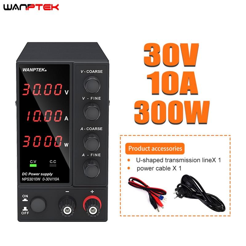 Wanttek-fuente de alimentación de laboratorio ajustable, estabilizador y regulador de voltaje, fuente de alimentación conmutada