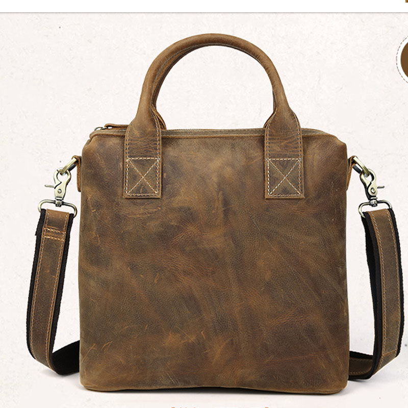 Men's Business Travel Laptop Bag Fashion Briefcase Multifunctional Durable Protection Shoulder Bag for male's in brown color