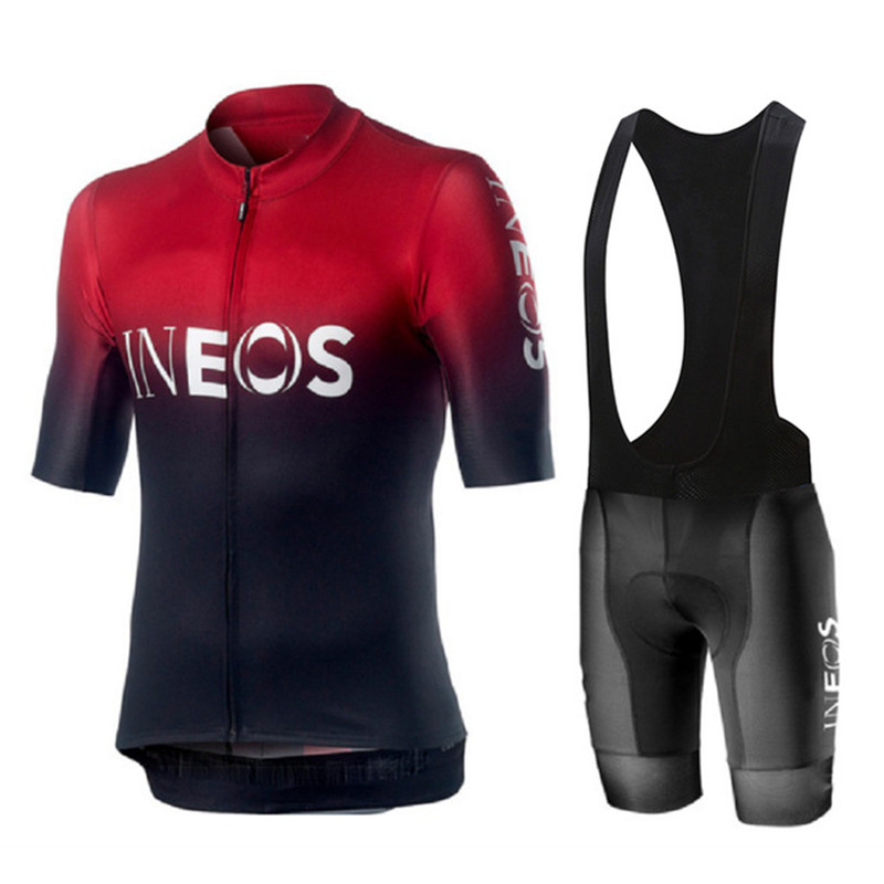 INEOS 2019 go pro Cycling Jersey Men Summer Short Sleeve Set Breathable Mtb bicycle uniform cycling clothing maillot ciclismo
