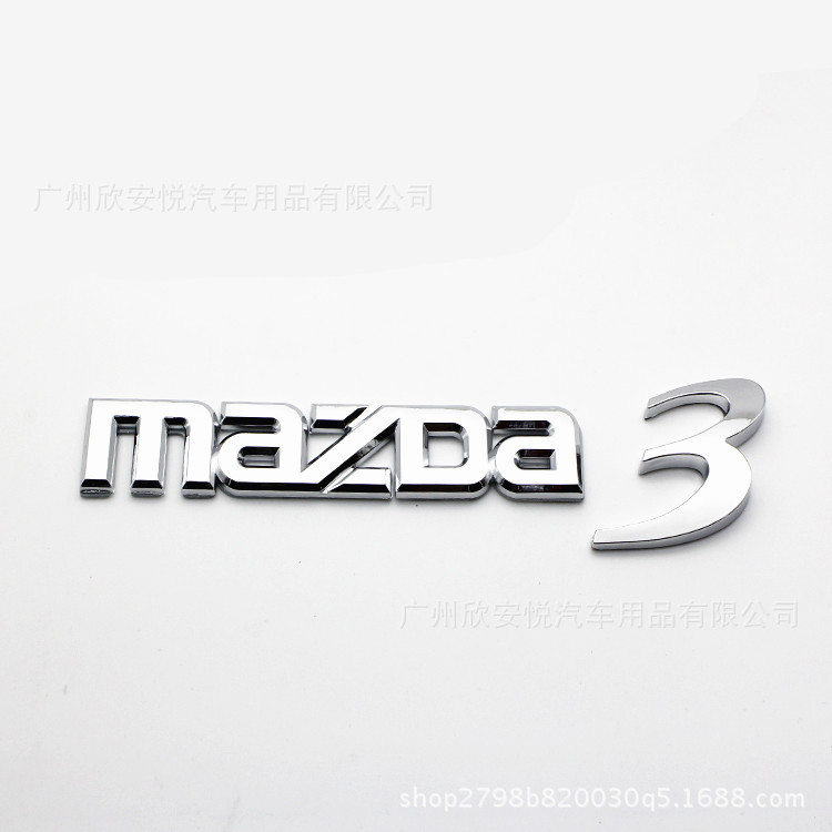 Trunk Car-Logo MAZDA6 Horse-3 Word M6-Tail-Tag English Chinese Changan Standard Suitable-For