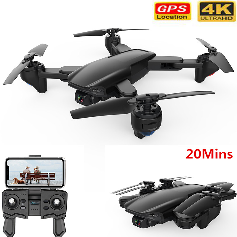 Profession RC Drone 4K HD Camera GPS Follow Pro Selfie Foldable Flight 20 Mins Quadcopter With WiFi FPV Double Camera Quadcopter