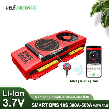 18650 Smart BMS 10S 300A 400A 500A With Bluetooth Compatible Android and Ios App For Solar and EV Scooter image