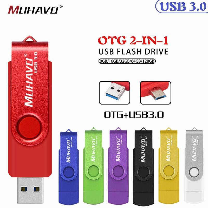 High Speed Pen Drive Cle Usb 3.0 OTG 128GB Usb Flash Drive 64GB Flash Drive 32GB Usb Stick 3.0 16GB 8GB Pendrive Memory Stick