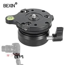 BEXIN Panning Levelingฐานกล้องขาตั้งกล้องขาตั้งปรับหัวระดับฟองสบู่สำหรับDslr Camearขาตั้งกล้อง