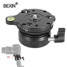 BEXIN panning leveling base tripod head camera stand adjusting head with with bubble level for dslr camear tripod