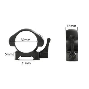Image 4 - ohhunt 25.4mm or 30mm Diameter Steel Quick Release Picatinny Weaver Low Medium High Profile Hunting Scope Rings Tactical Mounts