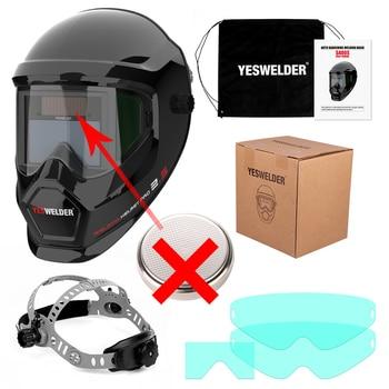 YESWELDER Large Screen Welding Mask True Color Welding Helmet Solar Auto Darkening Weld Hood without Battery 16