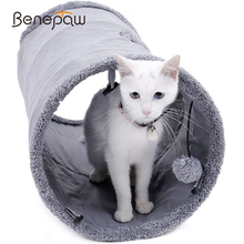 Benepaw Quality Collapsible Cat Tunnel Crinkle Durable Suede Kitten Toys Play Indoor Hideaway With Ball Peek Hole Easy To Carry