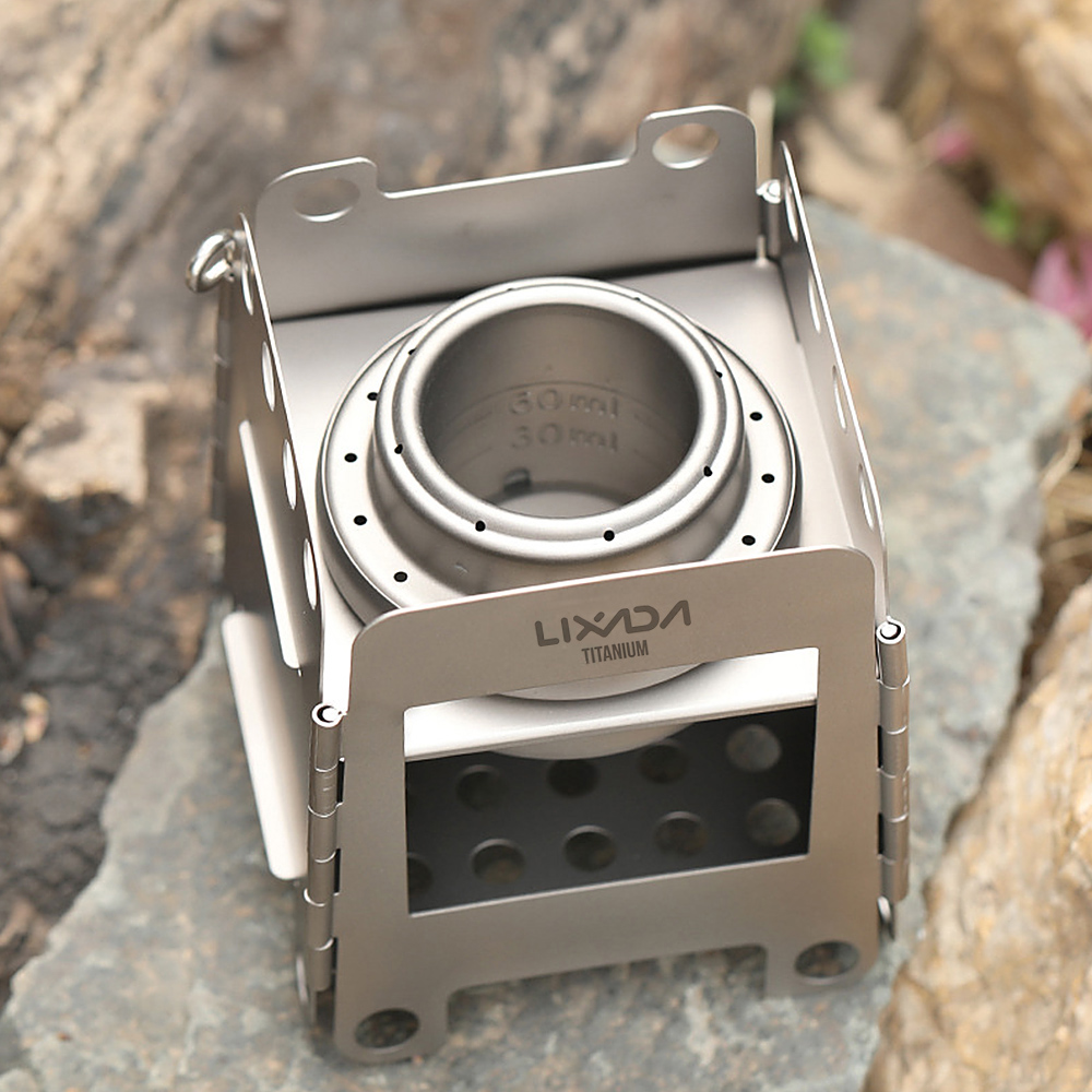 ND Mini Alcohol Burner Ultralight Portable Aluminium Mini Copper Spirit Stove Camping Stove Alcohol Stove for Outdoor Camping Hiking Backpacking BBQ Cooking Picnic