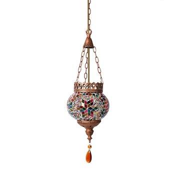 Artpad Средиземноморский стиль Турецкая Марокканская Подвесная лампа украшение ручной работы стеклянный абажур для ресторана E27 мозаика Подв...