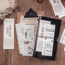 JIANWU 30 Blätter Täglichen Planer Memo Pad Kreative Englisch Grundlegende Dekoration Material Papier DIY Journal Keine Klebrigkeit