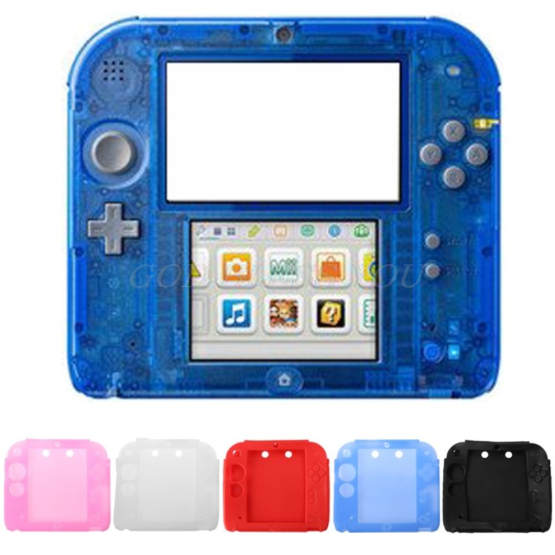Protective Cover Case Shell Soft Silicone Skin Anti-Slip Shockproof Accessories for Nintendo 2DS Game Player Handheld Console