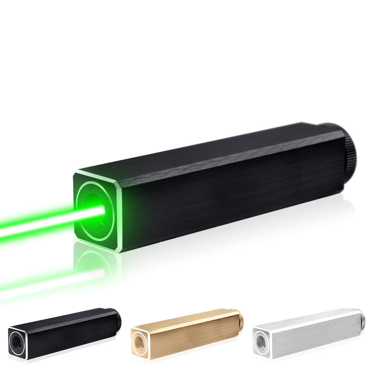 CWLASER 532nm vert/450nm bleu/405nm violet/650nm rouge pointeur Laser de forme carrée (3 couleurs)