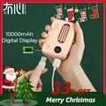 Maoxin パワー・バンク 可愛い ミニ 電池 デジタルディスプレイモバイルパワー 10000mAh 携帯電話アクセサリー