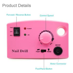 Image 3 - 3 Kleur Nail Boor Machine 35000Rpm Voor Elektrische Manicure Boor Machine & Accessoire Met Frees Elektrische Nagelvijl
