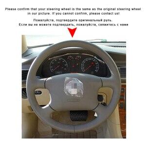 Image 3 - Auto Geflecht Auf Der Lenkrad Abdeckung für Volkswagen VW Passat B5 1996 2005 Golf 4 1998 2004 seat Alhambra Hand Nähen Leder