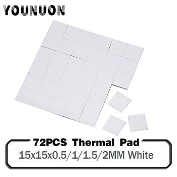 72PCS Silicone 15x15mm Thermal Pad 0.5/1/1.5/2mm Thickness  GPU CPU Heatsink Cooling Conductive Silicone Pad gpu cpu heatsink cooling thermal conductive silicone pad 100mmx100mmx0 5mm