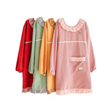 Senyue Apron Korean cute fashion home kitchen waist long sleeve overalls adult women cooking waterproof oil-proof