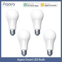 1-4 Uds Aqara bombilla LED inteligente Zigbee 9W E27 2700K-6500K Color blanco inteligente bombilla LED con mando a distancia de la luz para Xiaomi Mi casa mihome con HomeKit