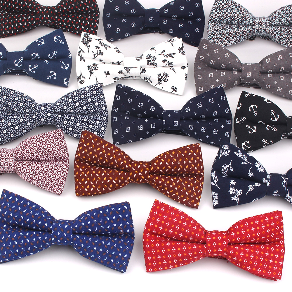 Floral Men Bow Tie Casual Cotton Bowtie For Men Adjustable Bow Ties For Business Wedding Butterfly Suits Cravats Bowties