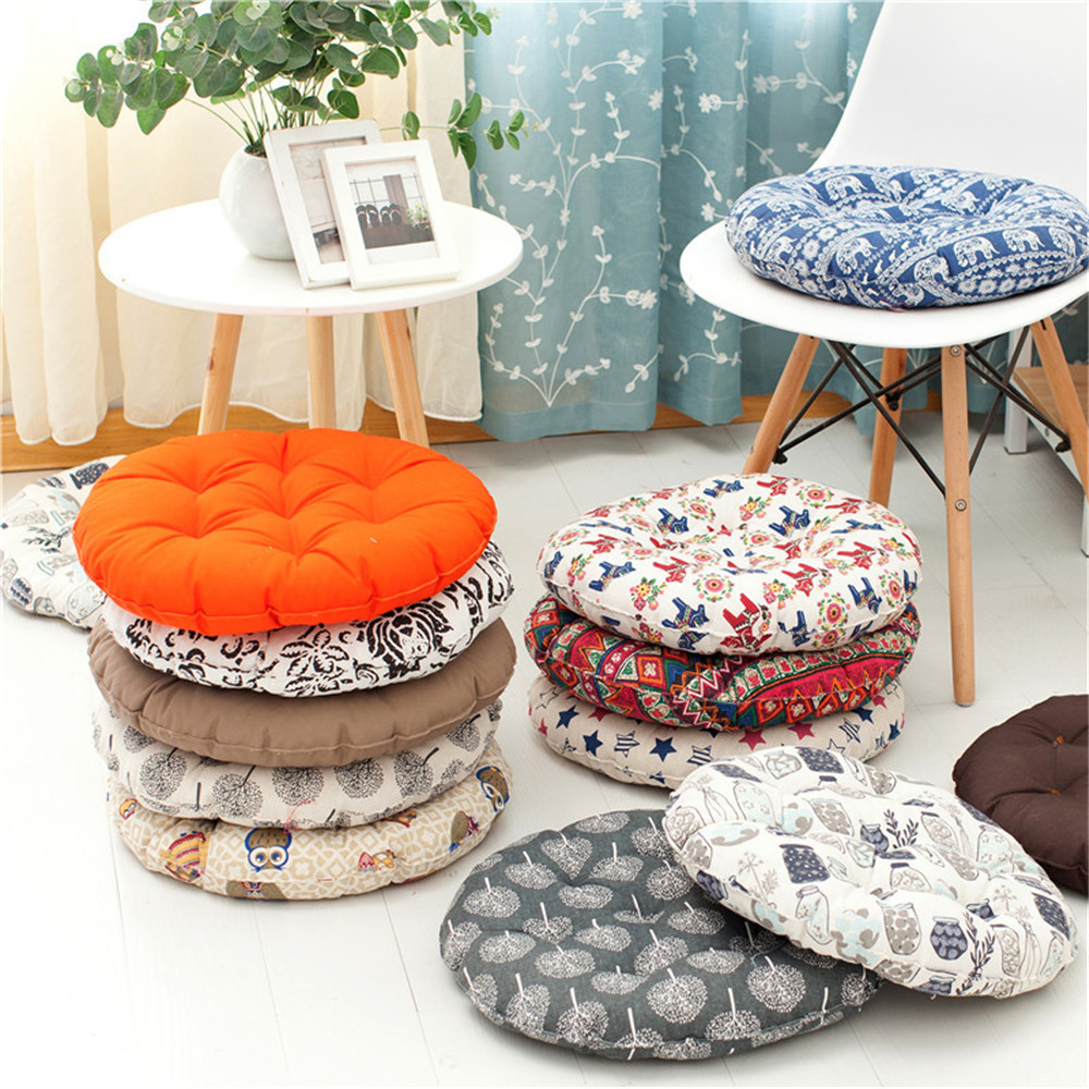 Polyester Fiber Round Chair Cushion Seat Pad For Patio Home Car Office Floor Pillow Tatami
