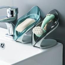Soap-Box Bathroom-Accessories Drainage Shower Leaf-Shape Plastic Durable Multi-Use Popular