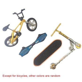 Mini bicicleta moto de dedo, juego de tabla de patinaje, juguetes educativos para niños, Mini patinete plegable de dedo, tabla de vitalidad