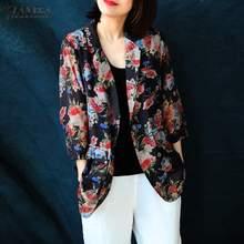2020 ZANZEA Women's Printed Jackets Fashion Floral Blazers C