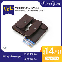 BISI GORO Pouch for Credit Card Wallet porte carte RFID Anti-theft Fashion Card Case Passport Holder Men and Women Coin Purse(China)