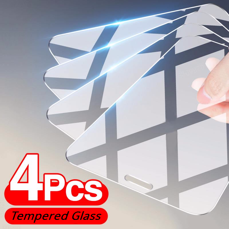4 шт. стекло для iPhone 12 7 8 Plus, 6, 6S, 5S SE 2020, Защитное стекло для экрана для iPhone 11 12 Pro Max Мини XR XS X защитное стекло