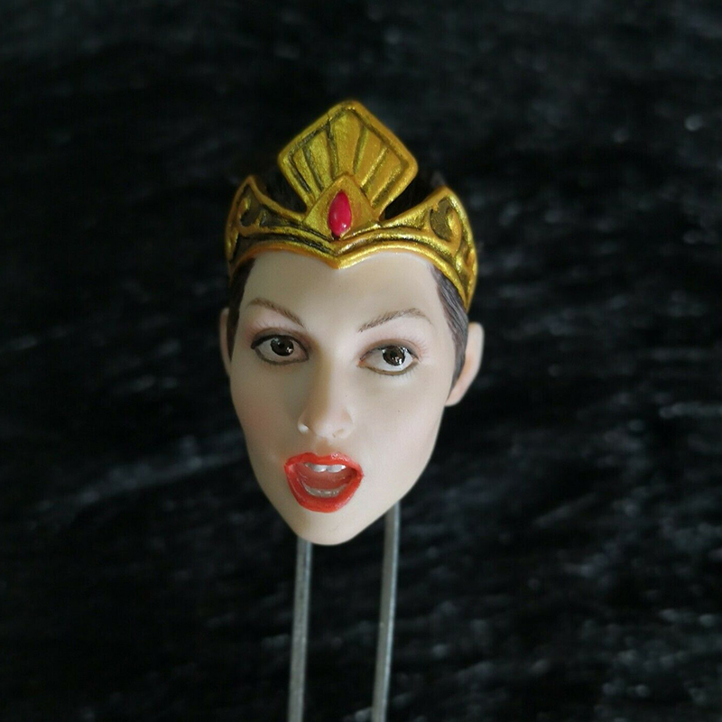 1/6 scale European Scale wonder woman Pale Head Sculpt with crown Model Toy Fit for 12 Figure body