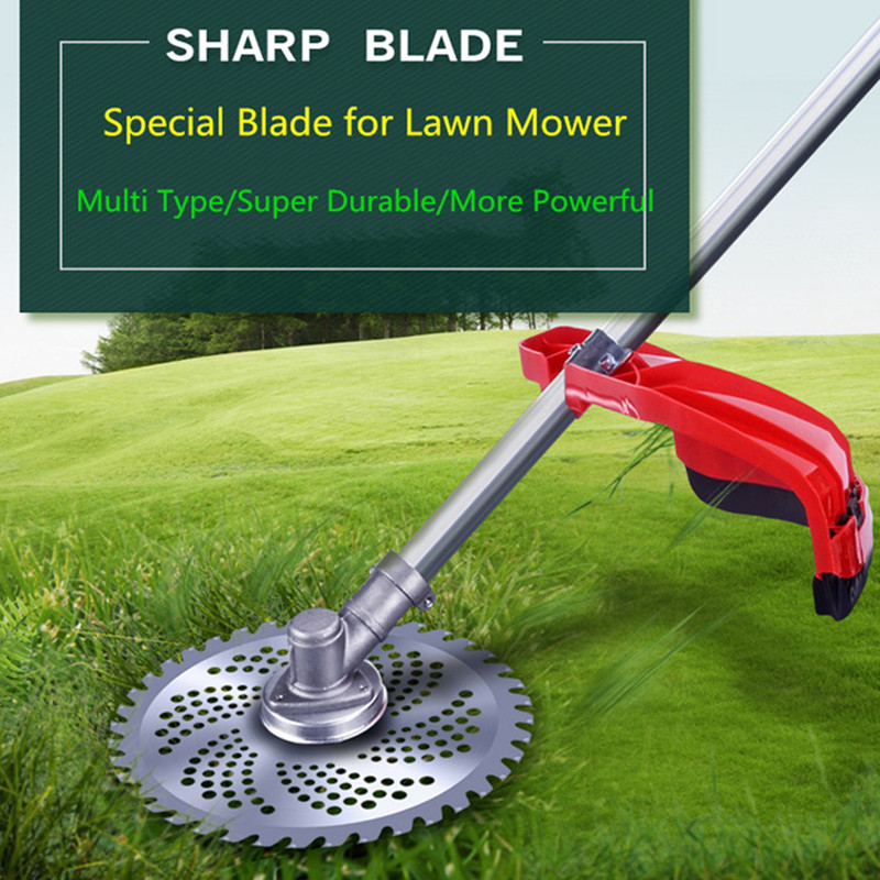 40/60T Grass Trimmer Blades Mowing Blade Cutting Blade For Lawn Mower Weed Lawnmower Parts Garden Tool Sharp Weed Brush Cutter