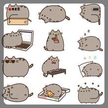 40 שונה מיני קריקטורה חתול נייר מדבקת קישוט DIY Ablum יומן מדבקות רעיונות תווית מדבקת Kawaii מכתבים